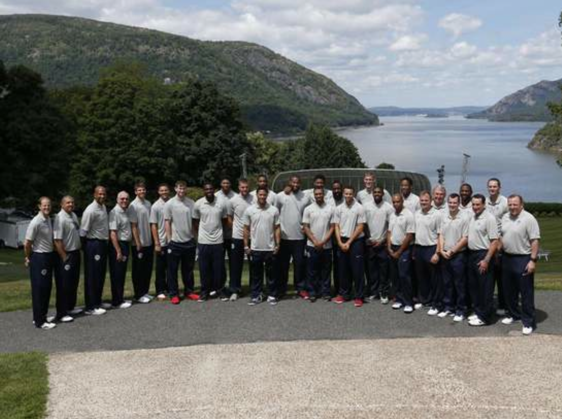 Team USA At West Point With Coach K, August 2014