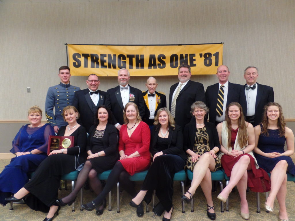 West Point Class of 1981 with COL (Ret.) Guy Kent Troy '46, Their Spouses and Progeny