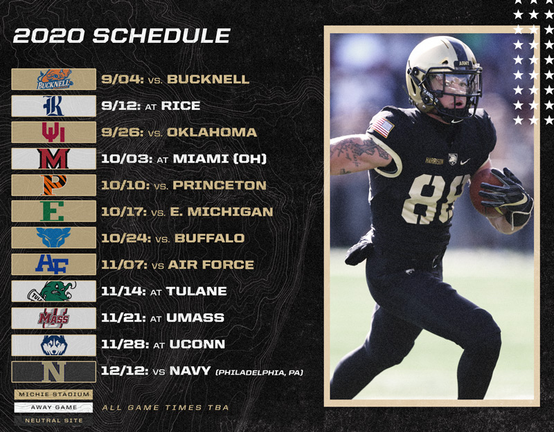 Army 2020 Football Schedule Published West Point Society Of Washington
